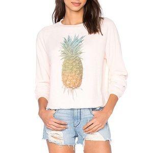 Wildfox Rainbow Pineapple Sunrise Sweatshirt Raw